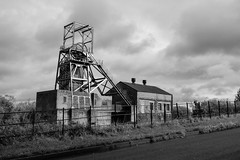 Barnsley main, freshly painted (deeceei3) Tags: dangerkeepout industrialheritage colliery industriallandscape mine pithead coalpit structure freshpaint coalmine mining architecture environment bw coalmining barnsleymaincolliery atmospheric building old landmark blackwhite miningindustry southyorkshire english historical monochrome unitedkingdom england heritage historic industry pit newpaintwork desolate