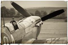 Scramble ! … (marc.barrot) Tags: monochrome fighter airplane aircraft vintage imperialwarmuseum uk cb22 cambridgeshire duxford duxfordaerodrome iwmduxford royalcanadianairforce rcaf 402squadron aea ep120 spitfire spitfirevb supermarine