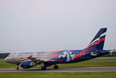 VP-BWD        A320-214      CSKA Moscow Livery    Aeroflot (Gormanston spotter) Tags: avgeek eidw dub 2019 airbus gormanstonspotter vpbwd a320214 cskamoscowlivery aeroflot