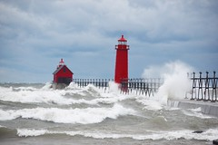 Fall Storm (arrjryqp6) Tags: windandwaves beachphotography lighthouse westmichigan fallstorm beach waves greatlakes michigan grandhaven