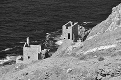 Looking  Down On The Crowns (MedievalRocker) Tags: botallack thecrowns cornishmining worldheritagesite nationaltrust mono
