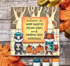Autumn is... (The Queen's Scene) Tags: card cardmaking stamping papercrafting handmadecard distressink hellobluebird hellobluebirdstamps fall autumn
