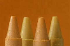 #Orange (aenee) Tags: aenee sigma105mm128dgmacrohsm nikond7100 lookingcloseonfriday orange naranja crayons waskrijtjes four vier 4 closeup monochroom eenkleurig pse14 20191027 dsc4719