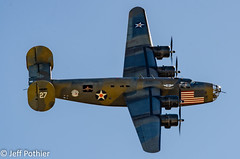 "B-24 Liberator ""DIAMOND LIL"" (vlxjeff) Tags: aircraft airshow airplane wwii warbird wings wingsoverdallas2019 warbirds plane nikon d7000 bomber boeing dallas douglas b29 b17 p51 sbd b24 c47"