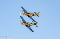 A pair of P-51's (vlxjeff) Tags: aircraft airshow airplane wwii warbird wings wingsoverdallas2019 warbirds plane nikon d7000 bomber boeing dallas douglas b29 b17 p51 sbd b24 c47