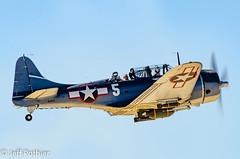SBD Dauntless Dive Bomber (vlxjeff) Tags: aircraft airshow airplane wwii warbird wings wingsoverdallas2019 warbirds plane nikon d7000 bomber boeing dallas douglas b29 b17 p51 sbd b24 c47
