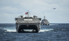USNS Millinocket (T-EPF 3) and USS Montgomery (LCS 8) are underway in the South China Sea.