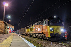 70815 With the Logs (Matty JC) Tags: class70 warrington trains class 70 colasrail uktrains railway bank quay