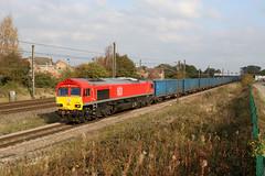 66107 6M16 moor lane 31.10.2019 (Dan-Piercy) Tags: dbcargo class66 66107 moorlane copmanthorpe 6m16 wilton knowsley empty bins ecml