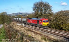 60007 | Chapel En Le Frith | 30th Oct '19 (Frank Richards Photography) Tags: 6h02 arpley sidings tunstead sdgs db class 60 60007 the spirit tom kendell ici hoppers chapel en le frith chapelenlefrith high peak dove holes forest red uk england autumn nikon d7100 derbyshire train stone wagons brush traction buxton peakdale