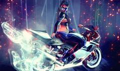 ♛ 103 (Nᴏʙᴏᴅʏ Iꜱ Pᴇʀғᴇᴄᴛ,Bᴜᴛ Mᴇ) Tags: cyber cyberpunk ay fantasy butt moto sexy girl female gamer 3d secondlife avatar 3dgame
