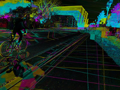 Muybridge perspective: Cycling to school (Thiophene_Guy) Tags: thiopheneguy originalworks aleatoric composite colour colors colours rainbow color surreal thsfeset harrisshuttereffect rainbowcolors kinetic dynamic dynamism action motion movement subtractivefilter subtractivefilterhse subtractivedifferenceharrisshuttereffect negativespace muybridgeperspective movingsubjectreferenceframe fuji xs1 fujifilmxs1