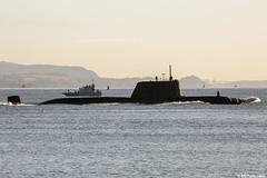 Unidentified RN Astute-class attack submarine (SSN); Loch Long, Firth of Clyde, Scotland (Michael Leek Photography) Tags: submarine fleetsubmarine attacksubmarine nuclearsubmarine nuclear nucleardeterrent astuteclass ssn firthofclyde lochlong clyde coulport faslane hmnbclyde hmnb hmsneptune gareloch rn royalnavy britainsarmedforces britainsnavy scotland scottishlandscapes scottishcoastline scotlandslandscapes scottishshipping westcoastofscotland westernscotland cowal cowalpeninsula argyllandbute argyll blairmore strone michaelleek nato michaelleekphotography patrolboat archerclass
