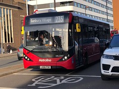Mostly straight single deck route with one deviation and terminating at Spelthorne/Surrey district next to the river.   Metroline West London ADL Enviro 200 MMC on the 235 to Sunbury Village. (alexpeak24) Tags: del2247 lk66fse sunburyvillage brentford 235 mmc enviro200 alexanderdennis surrey metroline london