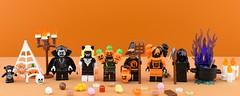 Random minifigs #13 : Lego-ween🎃 (Alex THELEGOFAN) Tags: lego legography minifigure minifigures minifig minifigurine minifigs minifigurines halloween figbarf band spooky trick or treat brains scary horrible candy monster vampire suit orange pumpkin