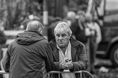 Real conversation (Frank Fullard) Tags: frankfullard fullard face conversation facetoface communication candid street portrait black white blanc noir monochrome expression mohill leitrim irish ireland