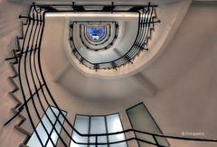 Hamburg stairs (petra.foto busy busy busy) Tags: treppe treppenhaus vonunten hamburg germany fotopetra kontorhaus architektur stairs