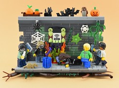 All around you are zombies !!😱 (Alex THELEGOFAN) Tags: lego legography minifigure minifigures minifig minifigurine minifigs minifigurines halloween figbarf band spooky