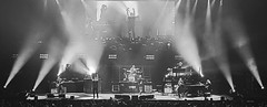 concert imagery (albyn.davis) Tags: blackandwhite people music concert light lights contrast glow musicians stage panorama