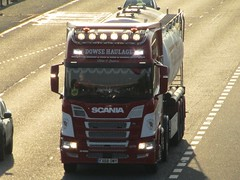 Dowse Haulage, Scania R450 (FX68OMY) On The M62 Eastbound Passing Rawcliffe Flyover (Gary Chatterton 7 million Views) Tags: dowsehaulage scaniatrucks scaniar450 fx68omy trucking wagon lorry haulage distribution logistics m62eastbound rawcliffeflyover transport flickr canonpowershotsx430 photography friendlytrucker