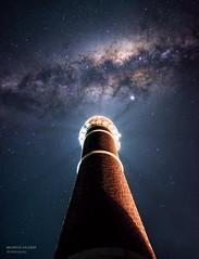 Milky Way above lighthouse (astropolo_) Tags: milkyway space night nightphotography nightscape astro astrophotography lighthouse milky way landscape longexpo longexposure uruguay nebula fujifilm fuji core stars galaxy star nasa colors mirrorless stacked starry