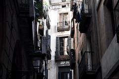 Barcelona (KadKarlis) Tags: barcelona spain catalonia travel summer outdoor dark nikon d5300 houses street living alley urban