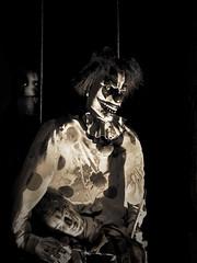 Creepy Clown (lleon1126) Tags: halloween tillsonstreet trevorcarpenterphotographychallenge filmnoire creepy clown spooky romeomichigan halloweendecorations