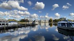 Clouds (Renate R) Tags: berlin treptowerhafen spree river clouds reflections