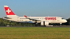 HB-JBB (AnDyMHoLdEn) Tags: swiss airbus a220 a220100 bombardier cs100 lufthansagroup staralliance egcc airport manchester manchesterairport 05r
