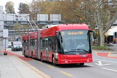 2019-10-20, Bern, Lorrainebrücke (Fototak) Tags: trolleybus filobus obus bern switzerland maxitrolleybus swisstrolley hess bernmobil ligne20 52