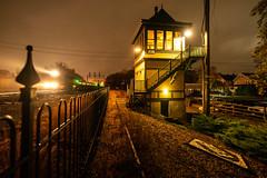 A Rainy Night at WC (sullivan1985) Tags: wc waldwick njt nj njtr newjersey northjersey erie erielackawanna newjerseytransit njtransit tower interlocking rain night train railroad railway passenger passengertrain commuter commutertrain gp40 geep emd westbound