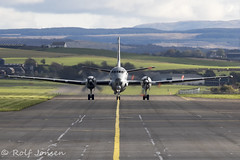 28 Breguet-Dassault Atlantique 2 French Navy Prestwick airport EGPK 15.10-19 (rjonsen) Tags: plane airplane aircraft aviation military surveilance marine patrol airside taxying taxiing centre line taxiway