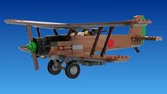 Kitai-6 light bomber (Awesome-o-saurus) Tags: lego biplane attack plane light bomber