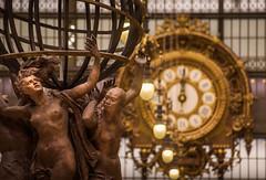 Le Monde et le temps (alix.ducellier) Tags: paris musée muséedorsay horloge pentax pentaxkr pentaxart pentaxflickraward sculpture bronze or museum