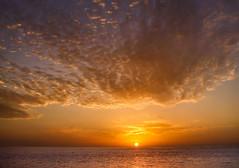 sunset (robertoburchi1949) Tags: sunset sun tramonto sole clouds nuvole sky cielo colours colori sea seascape landscape paesaggi