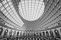 Leeds Corn Exchange (michael_d_beckwith) Tags: leeds corn exchange interior interiors inside architecture architectural building buildings place places historic historical history famous landmark landmarks black white noir bw yorkshire england english british european 4k 5k uhd stock free public domain creative commons zero o dome domes pretty pritty beautiful exchanges michael d beckwith michaeldbeckwith