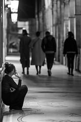 Rue de Castiglione, Paris, France (o.mabelly) Tags: mf manualfocus format plein frame full ff 7rm2 ilce contaxyashica a7 sonnar sony a7rii paris carl zeiss contax yashica ilce7rm2 novoflex cy france alpha f28 135mm bw black white noir blanc nb street rue nuit night people castiglione streetphotography