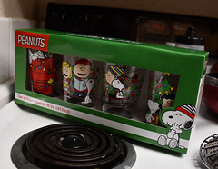 Peanuts Cups (earthdog) Tags: 2019 nikon nikond7500 d7500 18300mmf3563 house home kitchen peanuts snoopy charliebrown glass cup christmas