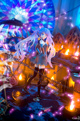 Ghost Rule (GaleXV) Tags: jfigure bfigure sega segaprize hatsunemiku vocaloid ghostrule halloween diorama toyphotography stainedglass projectdiva