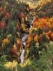 Valle de Pineta (tonygimenez) Tags: otoño valle valledepineta naturaleza cascada españa naturalezaaragónhuescaárbolesvegetaciónordesavallecaminopaisaje huesca