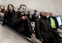 (Peter Murrell) Tags: joker thejoker londonunderground putonahappyface dccomics batman londonstreetphotography