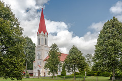 Rucava Parish Church, Latvia, South West Elevation (Gerry Lynch/林奇格里) Tags: baznycia christian church clouds latvia lutheran rucava sky 云 基督教 天 天空 拉脱维亚 教会 教堂 路德 过分地 霄
