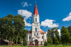 Rucava Parish Church, West Elevation (Gerry Lynch/林奇格里) Tags: baznycia christian church clouds latvia lutheran rucava sky 云 基督教 天 天空 拉脱维亚 教会 教堂 路德 过分地 霄