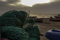 a Fisherman's Sunset ..., un Atardecer de Pescadores... (Joerg Kaftan) Tags: boats rigging fishing fishermen beach sunset sun clouds cabodegata almeria spain canon eos7d markii views landscapes barcas aparejos pesca pescadores playa atardecer sol nubes españa vistas paisajes redes netting