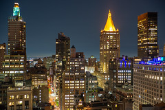 Chelsea from Midtown ll (fate atc) Tags: chelsea manhattan newyork west28thst buildings city frommidtown lights nightphotography skyline