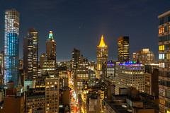 Chelsea from Midtown (fate atc) Tags: chelsea manhattan newyork west28thst buildings city frommidtown lights nightphotography skyline