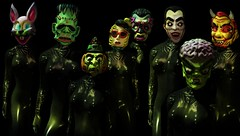 Bye Bye Halloweenie... (tralala.loordes) Tags: rachelbreaker halloween oldplasticmasks tralalaloordes tralala tra flickrblogging flickrart fashion fantasy secondlife sl slfashionblogging slblogging virtualphotography vr avatar mask