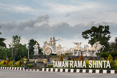 Kuta, Bali / Indonesia - May 12, 2019 Huge Hindu chariot monument by the roundabout at Denpasar (stewart.watsonnz) Tags: building tree city architecture park sky road statue palace monument sculpture outdoors cloud tourism travel landmark outdoor noperson sign street sitting art stop old touristattraction large religion estate traffic townsquare urban facade tarmac landscape riding summer train temple military people monastery red hindu hinuism denpasar bali roundabout