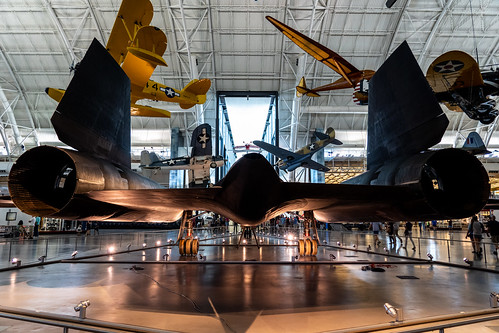 SR-71 Blackbird rear view