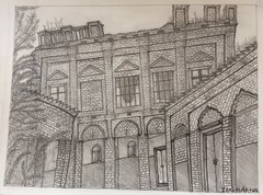 A 19th century architecture in Bangladesh. (zerin0404) Tags: architecture pencil ancient drawings dhaka bangladesh graphite heritage